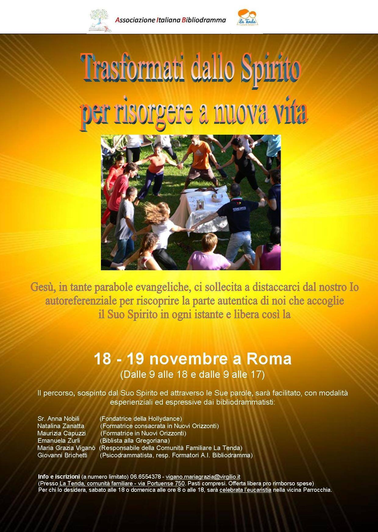 Bibliodramma, Weekend Formativo a Roma